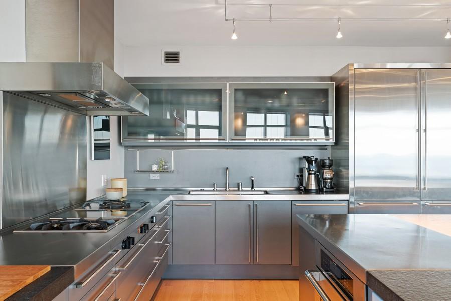 Real Estate Photography - 530 N Lake Shore Dr, unit 2305, Chicago, IL, 60611 - Kitchen