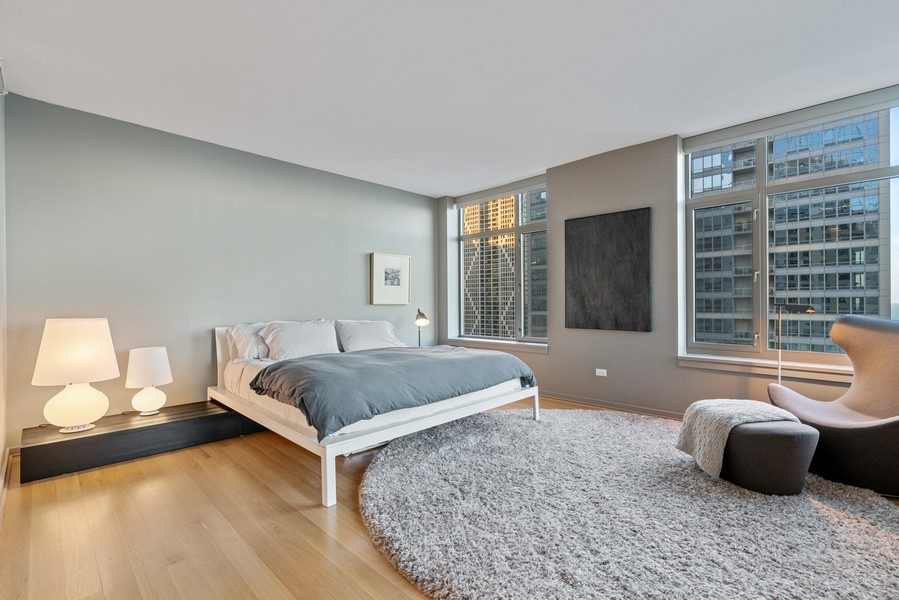 Real Estate Photography - 530 N Lake Shore Dr, unit 2305, Chicago, IL, 60611 - Master Bedroom