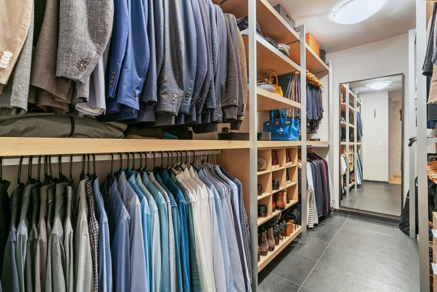 Real Estate Photography - 530 N Lake Shore Dr, unit 2305, Chicago, IL, 60611 - Master Bedroom Closet