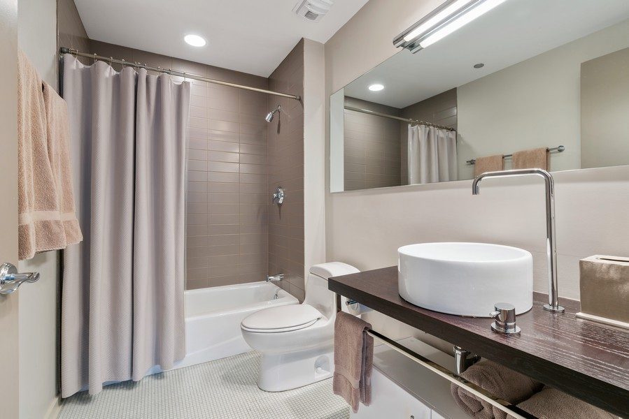 Real Estate Photography - 530 N Lake Shore Dr, unit 2305, Chicago, IL, 60611 - 2nd Bathroom