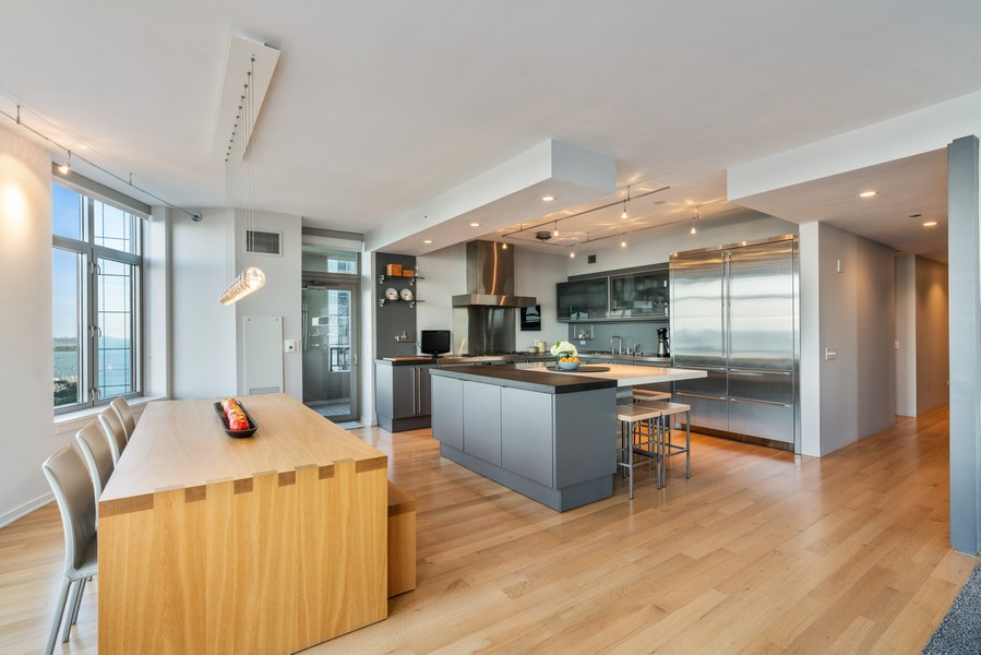 Real Estate Photography - 530 N Lake Shore Dr, unit 2305, Chicago, IL, 60611 - Kitchen / Dining Room