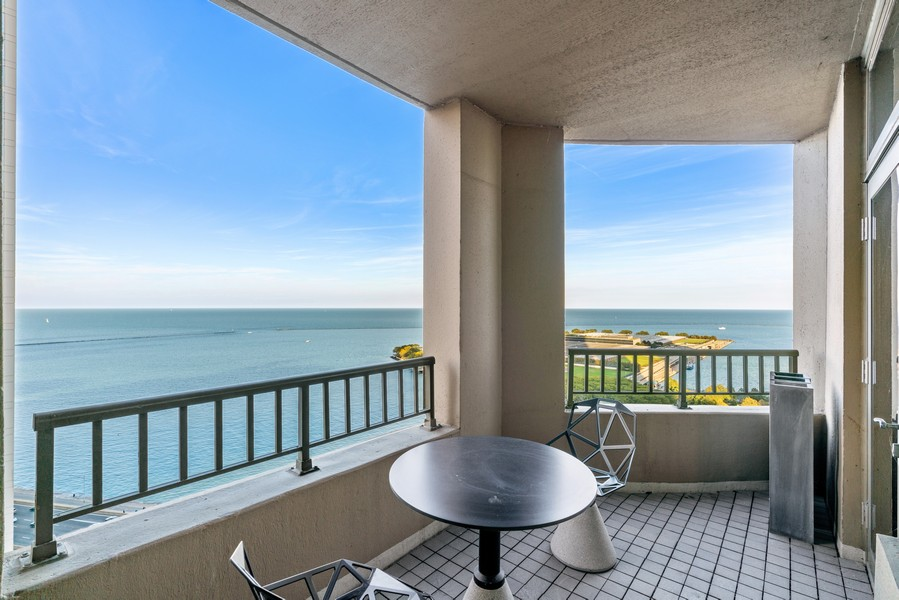 Real Estate Photography - 530 N Lake Shore Dr, unit 2305, Chicago, IL, 60611 - Balcony