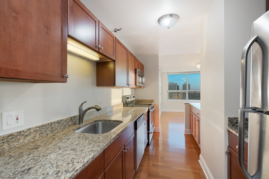 Real Estate Photography - 474 N Lake Shore Dr, 5108, Chicago, IL, 60611 - Kitchen
