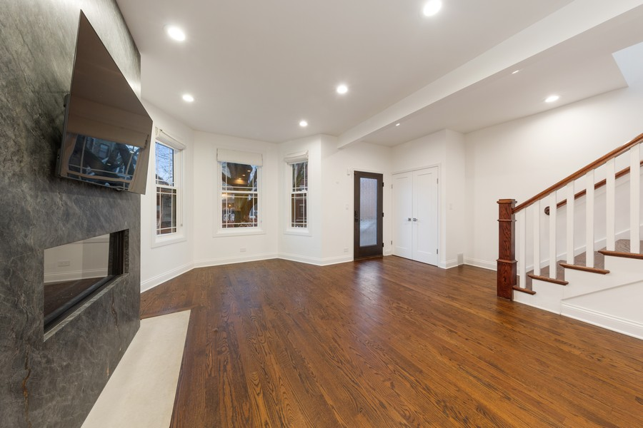 Real Estate Photography - 3537 Hoyne, Chicago, IL, 60657 - Living Room