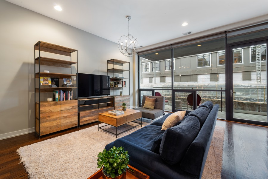 Real Estate Photography - 2495 N Milwaukee Ave., Unit 2S, Chicago, IL, 60647 - Living Room