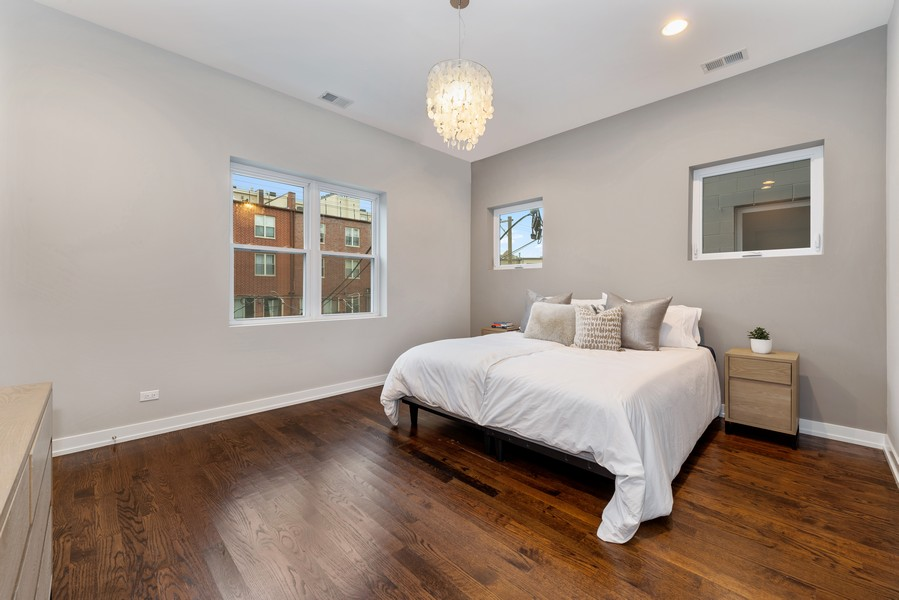Real Estate Photography - 2495 N Milwaukee Ave., Unit 2S, Chicago, IL, 60647 - Master Bedroom