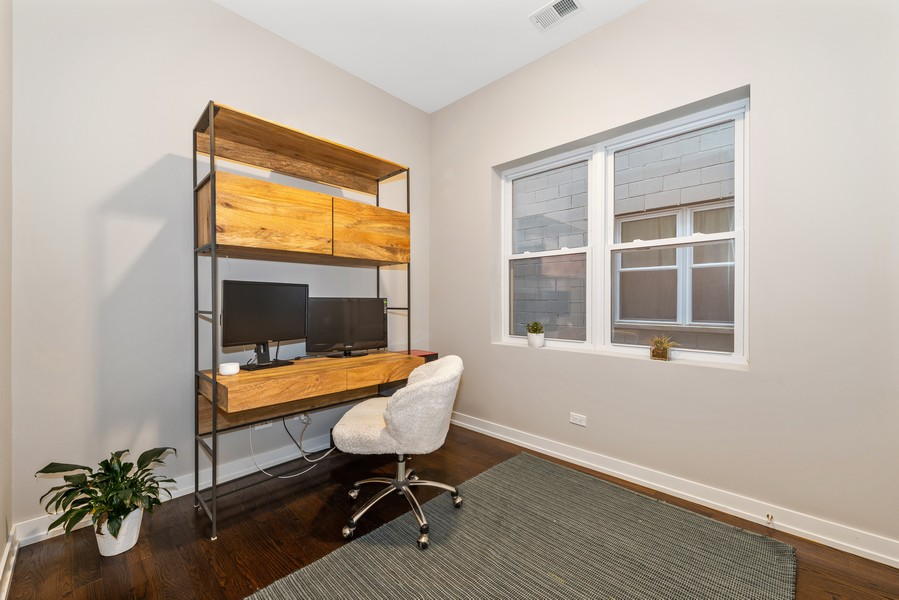 Real Estate Photography - 2495 N Milwaukee Ave., Unit 2S, Chicago, IL, 60647 - 3rd Bedroom