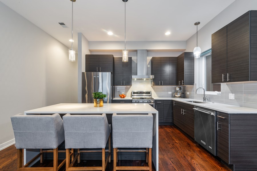 Real Estate Photography - 2495 N Milwaukee Ave., Unit 2S, Chicago, IL, 60647 - Kitchen
