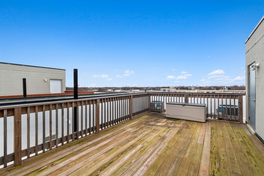 Real Estate Photography - 2495 N Milwaukee Ave., Unit 2S, Chicago, IL, 60647 - Roof Deck