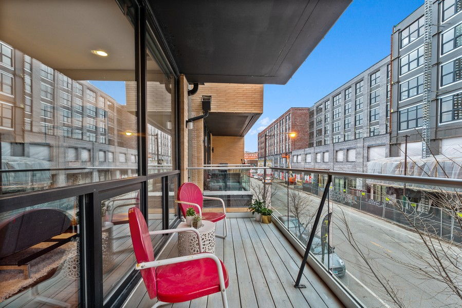 Real Estate Photography - 2495 N Milwaukee Ave., Unit 2S, Chicago, IL, 60647 - Balcony