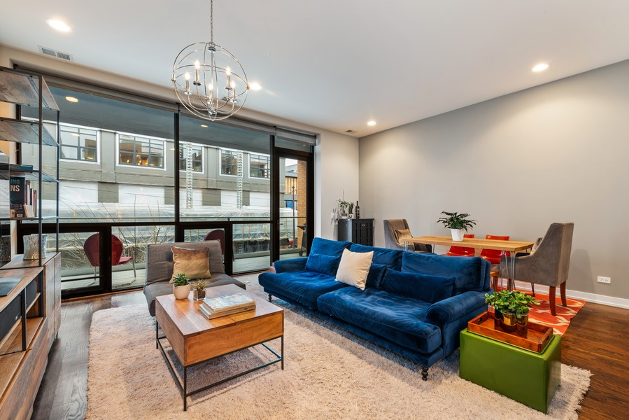 Real Estate Photography - 2495 N Milwaukee Ave., Unit 2S, Chicago, IL, 60647 - Living Room / Dining Room