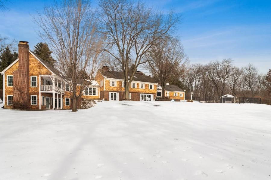 Real Estate Photography - 366 S Bateman Circle, Barrington Hills, IL, 60010 - Back Yard