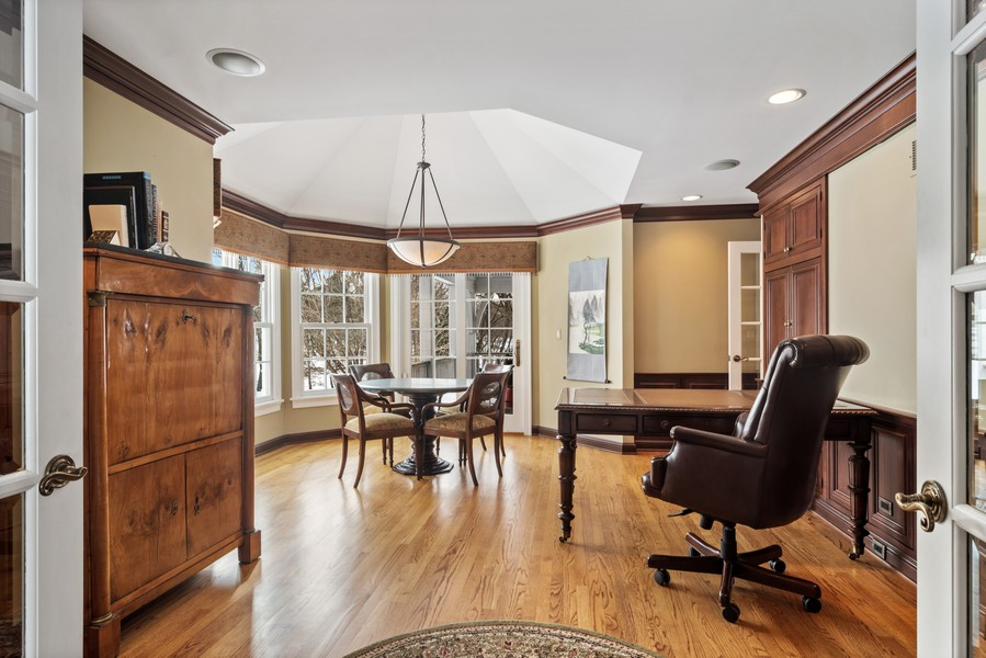 Real Estate Photography - 366 S Bateman Circle, Barrington Hills, IL, 60010 - Study