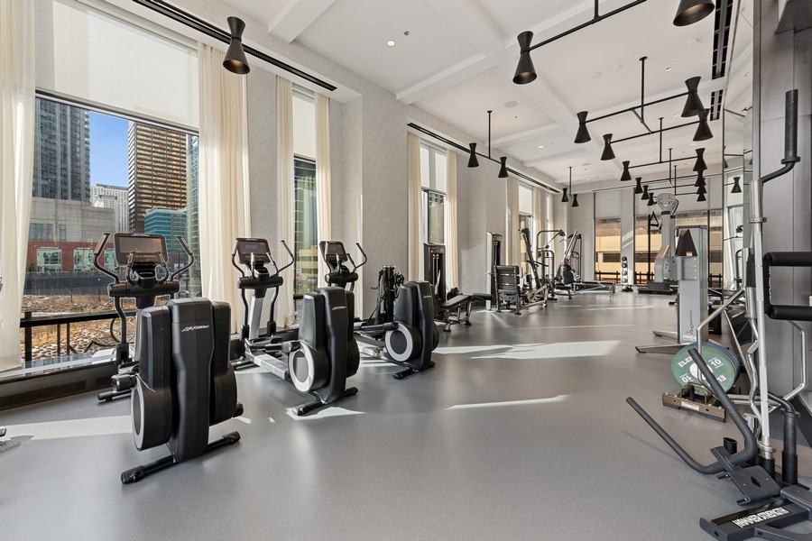 Real Estate Photography - 451 E. Grand Unit 4304, Chicago, IL, 60614 - Exercise Room