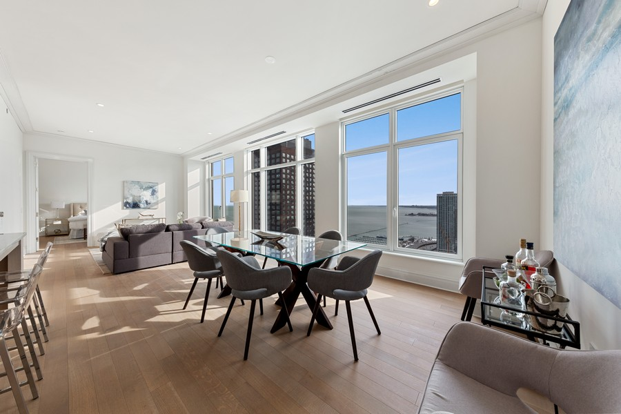 Real Estate Photography - 451 E. Grand Unit 4304, Chicago, IL, 60614 - Dining Room
