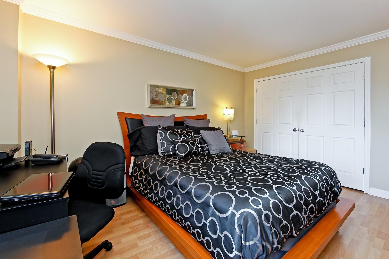 Real Estate Photography - 1360 Sandburg, 2103, Chicago, IL, 60610 - Bedroom