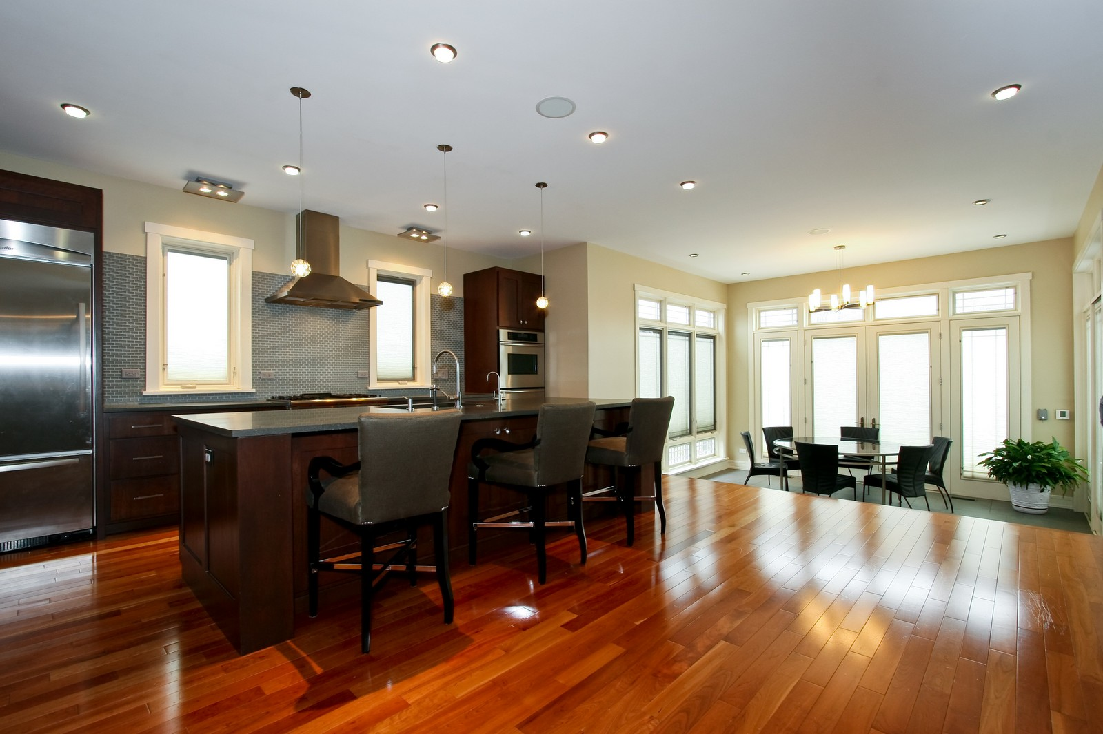 Real Estate Photography - 444 W. 38th Street, Chicago, IL, 60609 - Kitchen / Breakfast Area with heated floor