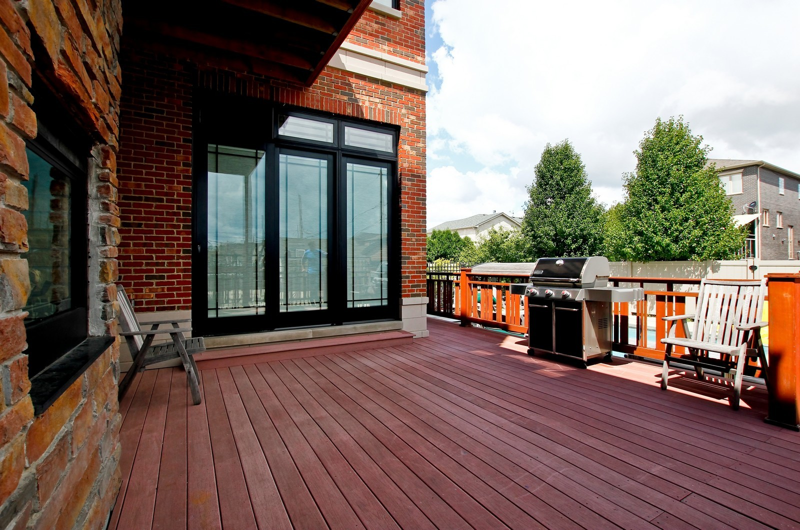 Real Estate Photography - 444 W. 38th Street, Chicago, IL, 60609 - Rear Deck
