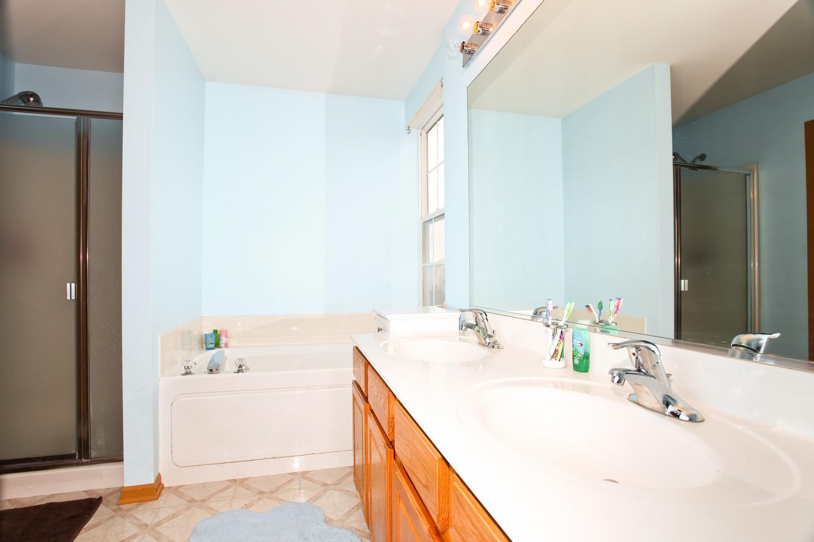 Real Estate Photography - 1745 Rebecca Lane, Aurora, IL, 60504 - Master Bathroom