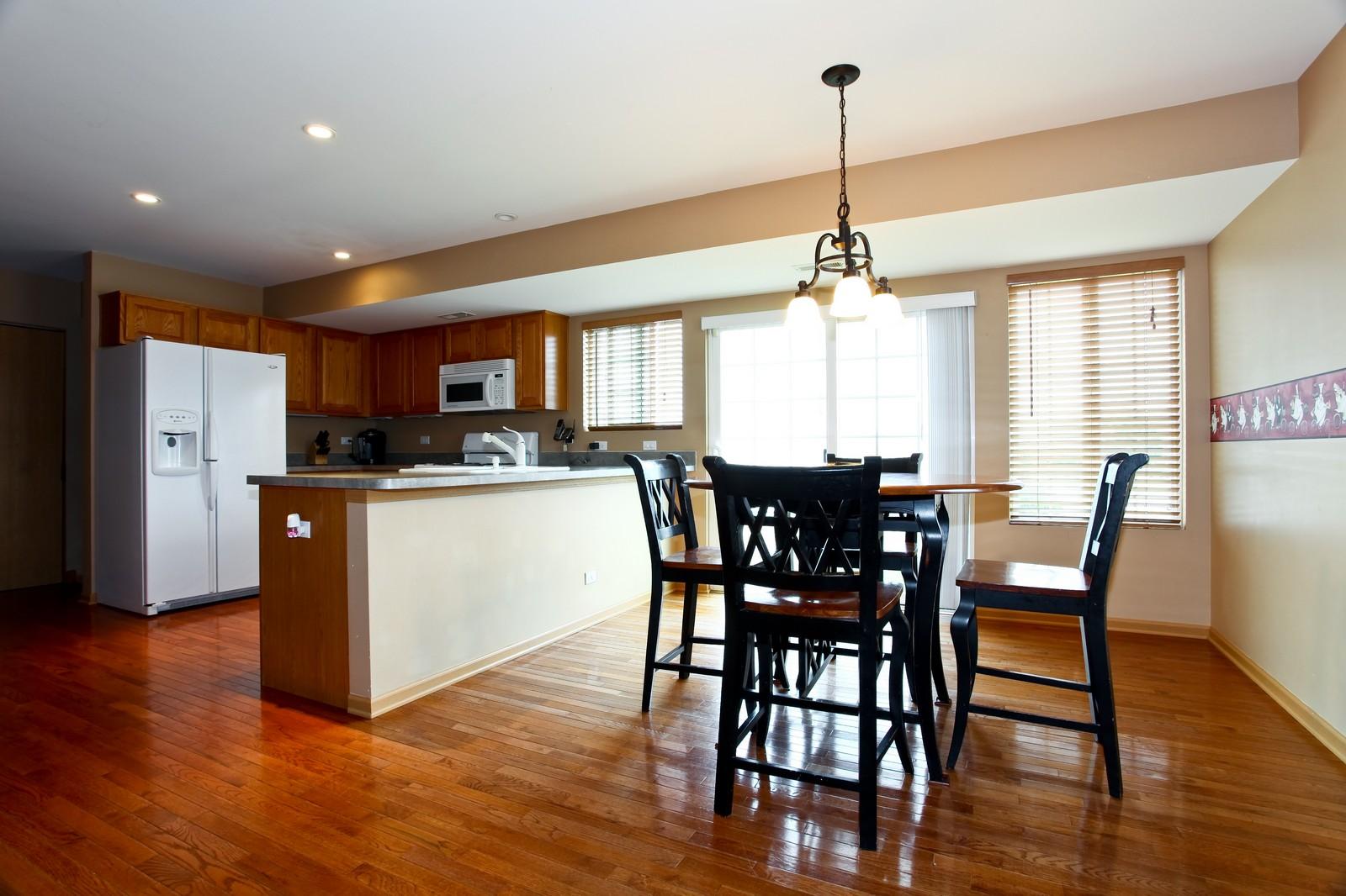 Real Estate Photography - 1745 Rebecca Lane, Aurora, IL, 60504 - Kitchen / Dining Room