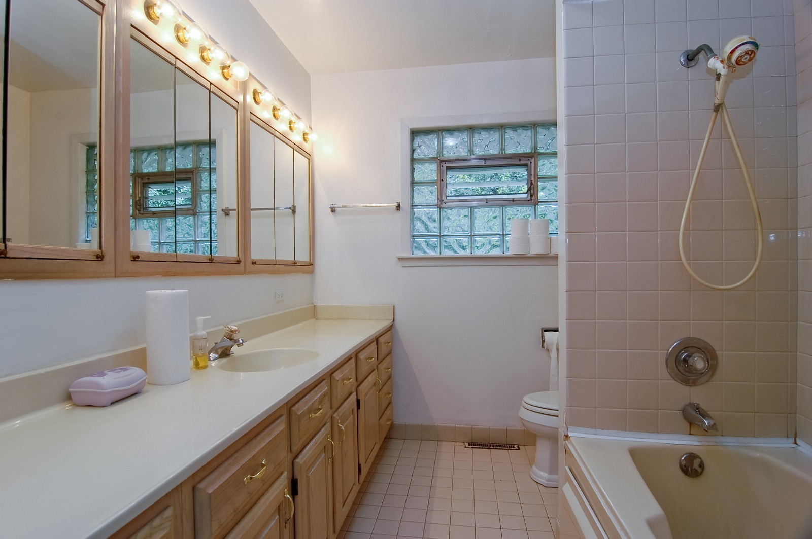 Real Estate Photography - 111 N. Dale, Prospect Heights, IL, 60070 - Bathroom