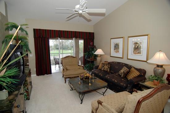 Real Estate Photography - 5653 Whisperwood Blvd, Unit 303, Naples, FL, 34110 - Living Room