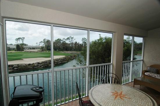 Real Estate Photography - 5653 Whisperwood Blvd, Unit 303, Naples, FL, 34110 - Lanai