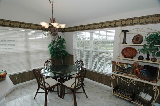 Real Estate Photography - 5653 Whisperwood Blvd, Unit 303, Naples, FL, 34110 - Breakfast Nook