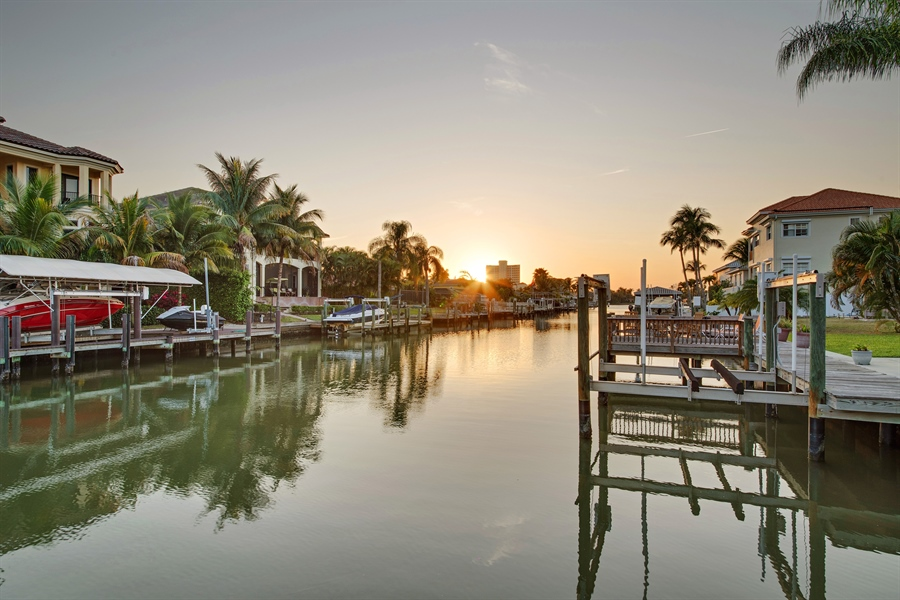 Real Estate Photography - 430 Willet, Naples, FL, 34108 - Canal View