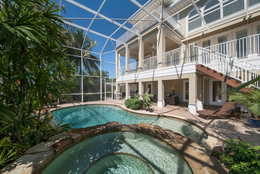 Real Estate Photography - 430 Willet, Naples, FL, 34108 - Pool/Spa