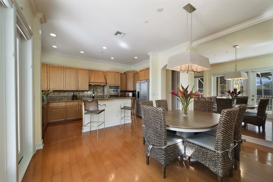 Real Estate Photography - 430 Willet, Naples, FL, 34108 - Kitchen / Dining Room