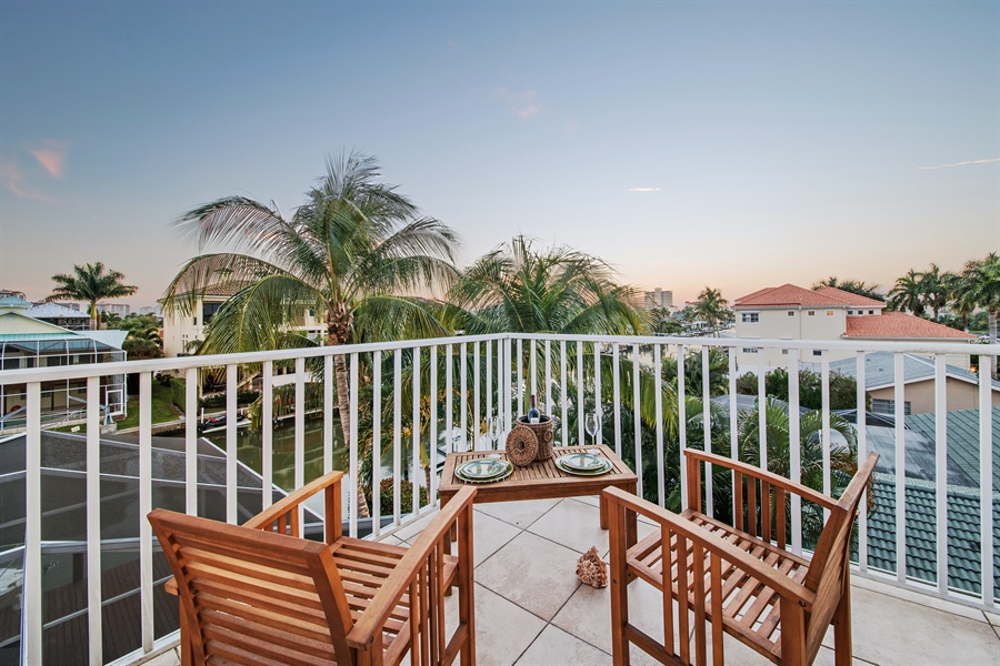 Real Estate Photography - 430 Willet, Naples, FL, 34108 - Balcony