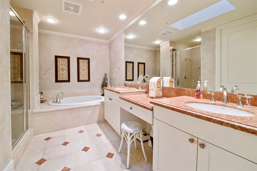Real Estate Photography - 780 S 5th Ave, Naples, FL, 34102 - Master Bathroom