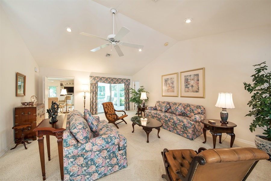 Real Estate Photography - 2095 Imperial Circle, Naples, FL, 34110 - Living Room