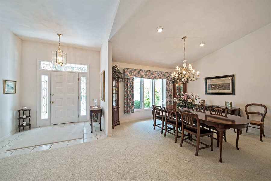 Real Estate Photography - 2095 Imperial Circle, Naples, FL, 34110 - Foyer/Dining Room