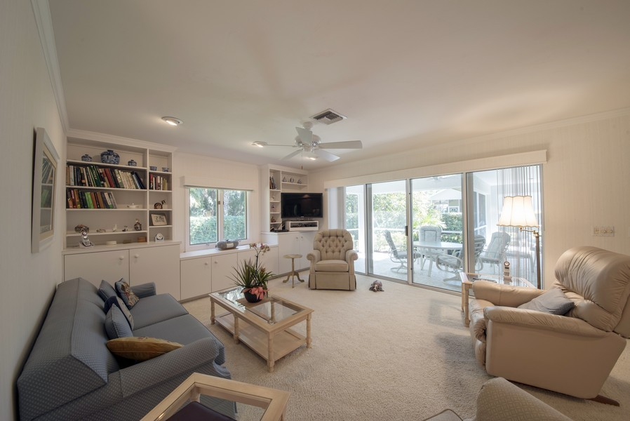 Real Estate Photography - 2095 Imperial Circle, Naples, FL, 34110 - Family Room