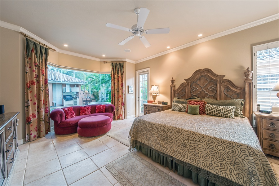 Real Estate Photography - 3071 TERRAMAR DR, NAPLES, FL, 34119 - Master Bedroom