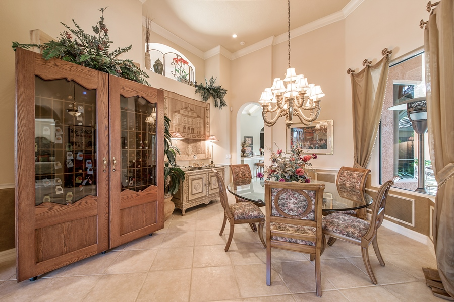 Real Estate Photography - 3071 TERRAMAR DR, NAPLES, FL, 34119 - Dining Room