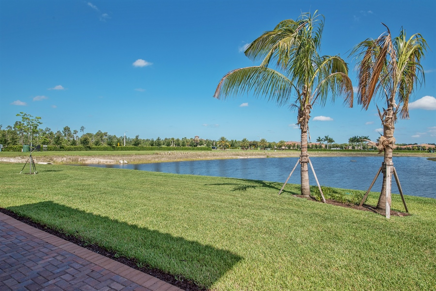 Real Estate Photography - 3599 Beaufort Ct, Naples, FL, 34119 - Back Yard