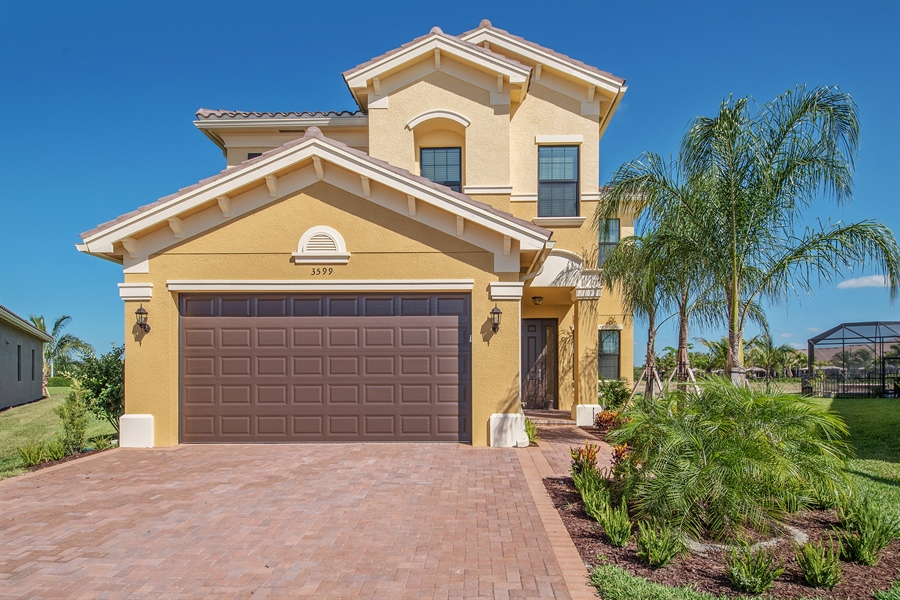 Real Estate Photography - 3599 Beaufort Ct, Naples, FL, 34119 - Front View