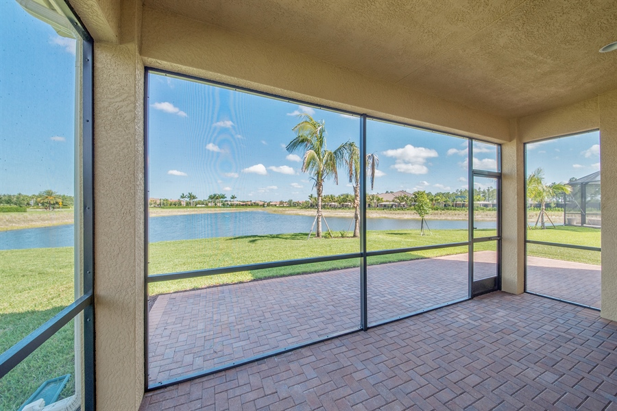 Real Estate Photography - 3599 Beaufort Ct, Naples, FL, 34119 - Lanai