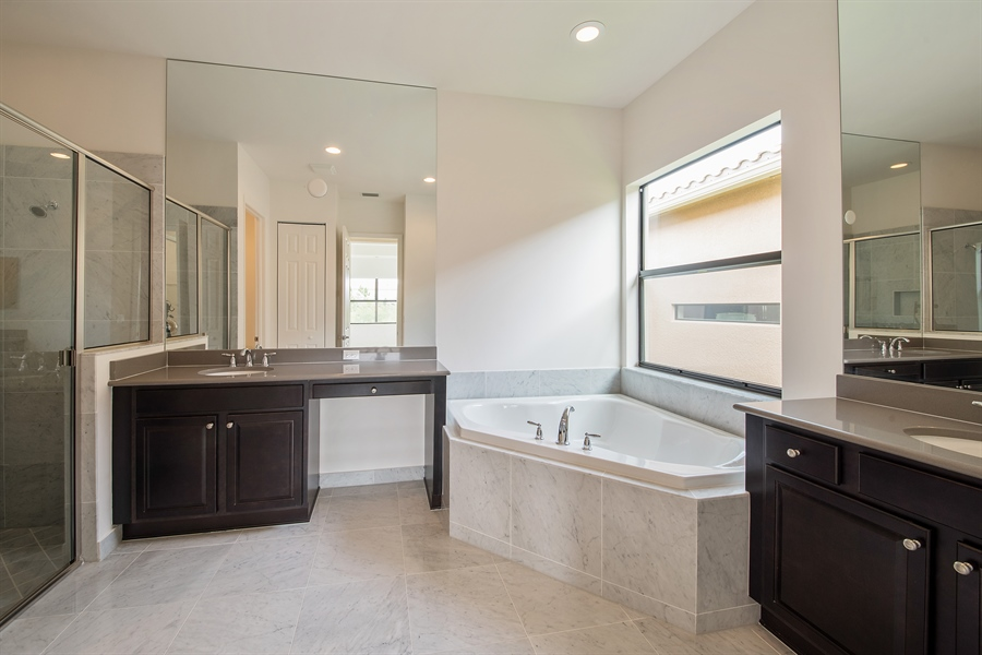 Real Estate Photography - 3510 Sungari Ct, Naples, FL, 34119 - Master Bathroom