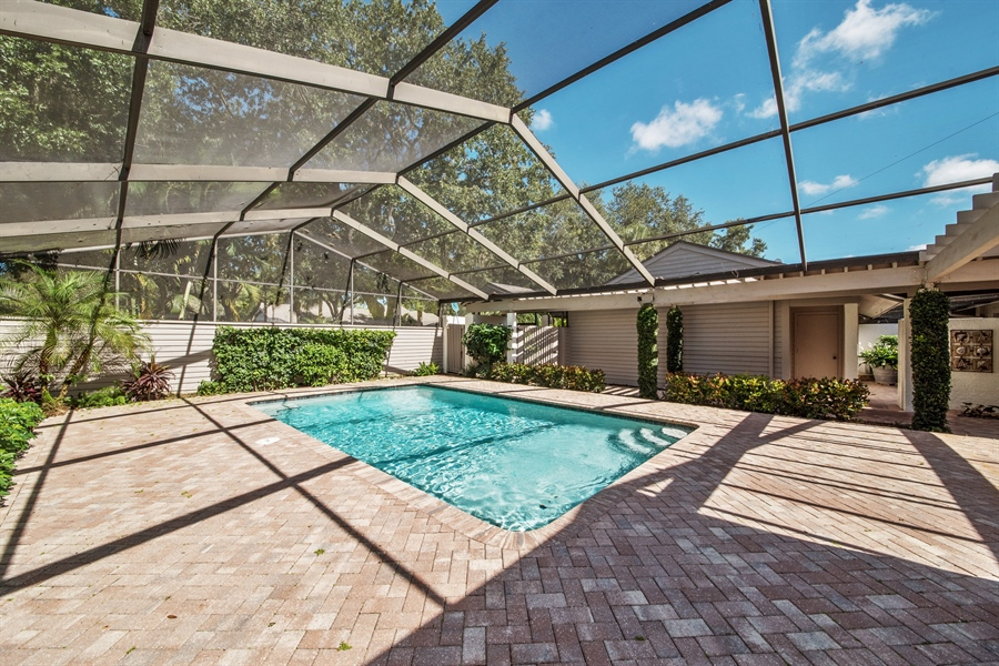 Real Estate Photography - 344 edgemere way north, naples, FL, 34105 - Pool