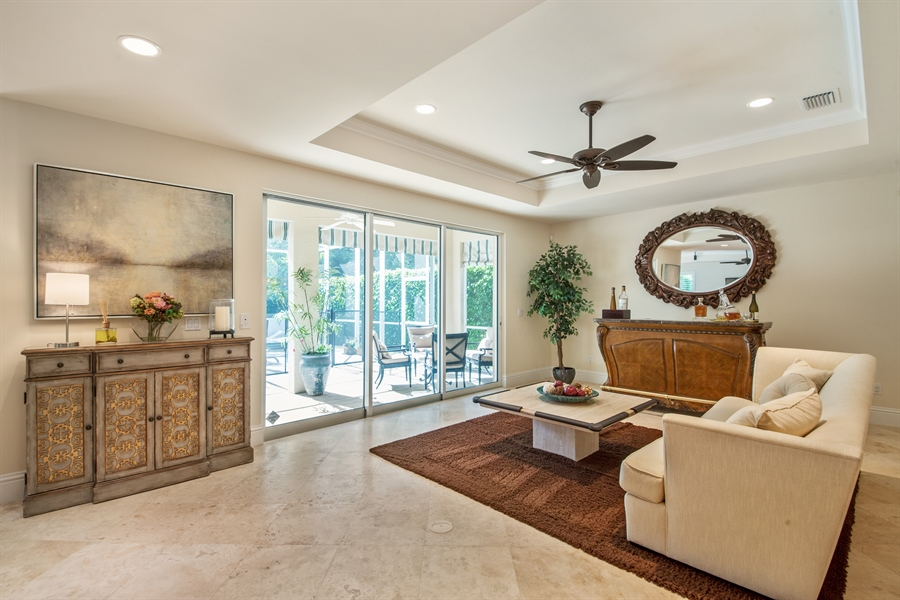 Real Estate Photography - 2853 COCO LAKES CT, NAPLES, FL, 34105 - Living Room