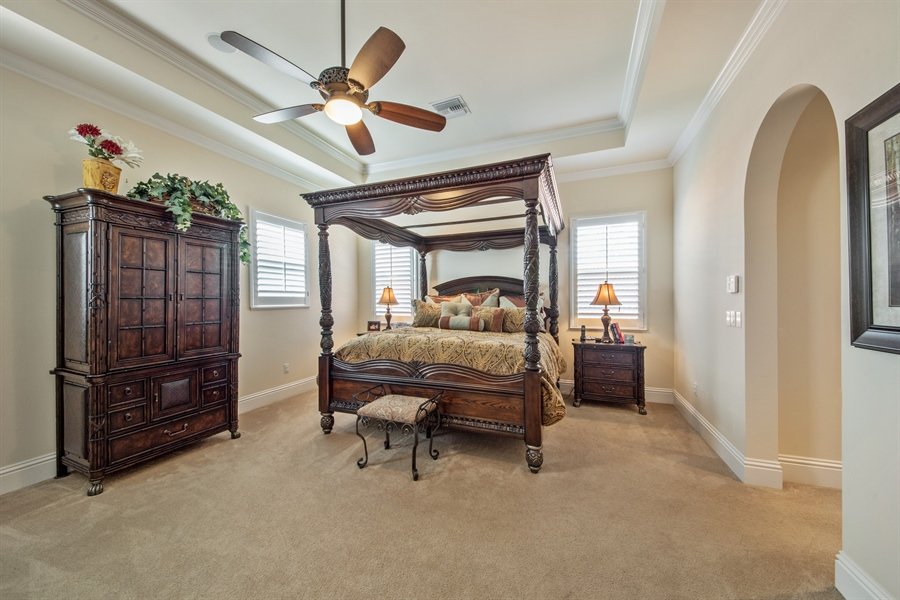 Real Estate Photography - 2853 COCO LAKES CT, NAPLES, FL, 34105 - Master Bedroom