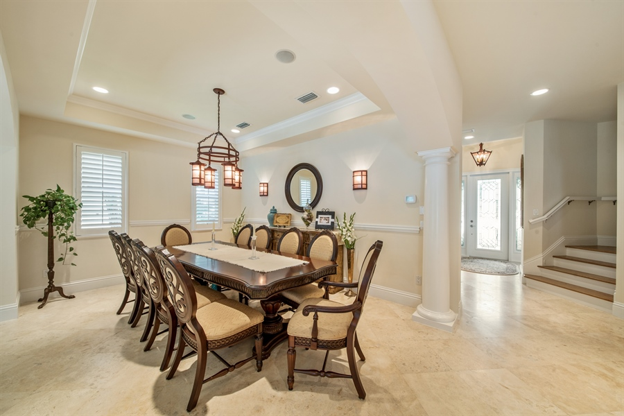Real Estate Photography - 2853 COCO LAKES CT, NAPLES, FL, 34105 - Dining Room