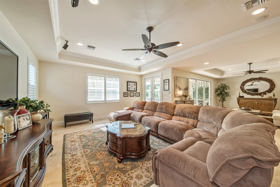 Real Estate Photography - 2853 COCO LAKES CT, NAPLES, FL, 34105 - Family Room