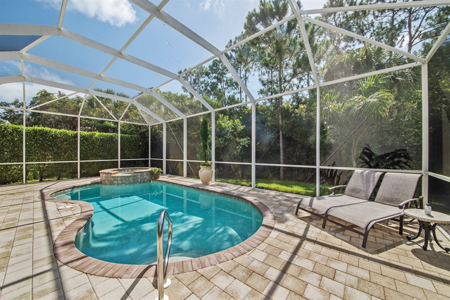 Real Estate Photography - 2853 COCO LAKES CT, NAPLES, FL, 34105 - Pool/Spa