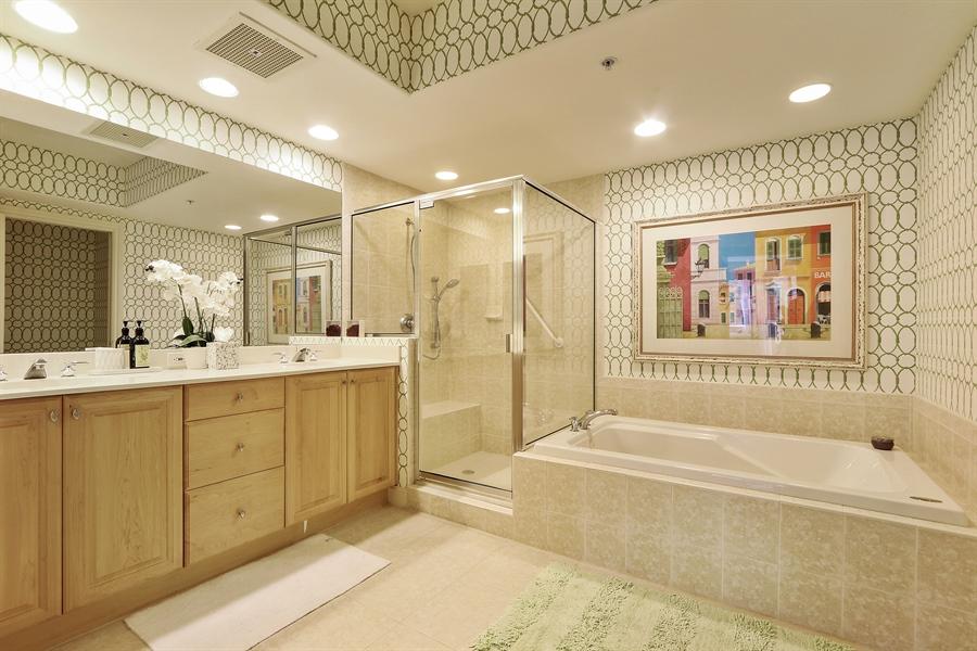 Real Estate Photography - 2738 TIBURON BLVD E, B-204, Naples, FL, 34109 - Master Bathroom