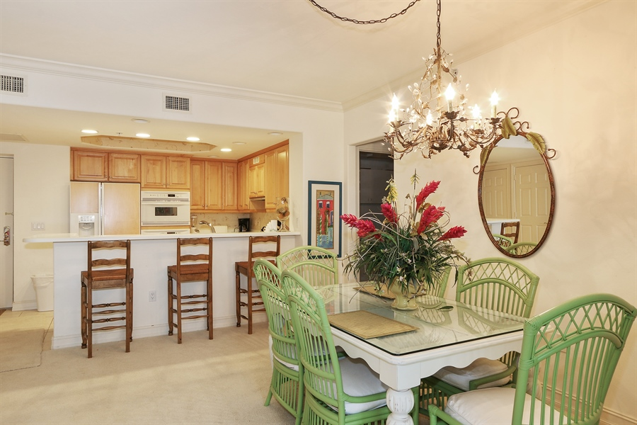 Real Estate Photography - 2738 TIBURON BLVD E, B-204, Naples, FL, 34109 - Dining Room